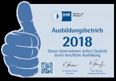 Auszeichnung Ausbildungsbetrieb 2018